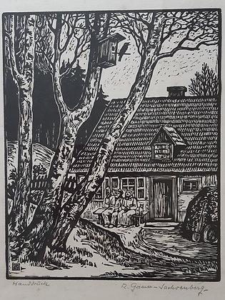 Richard Grimm-Sachsenberg - Handdruck