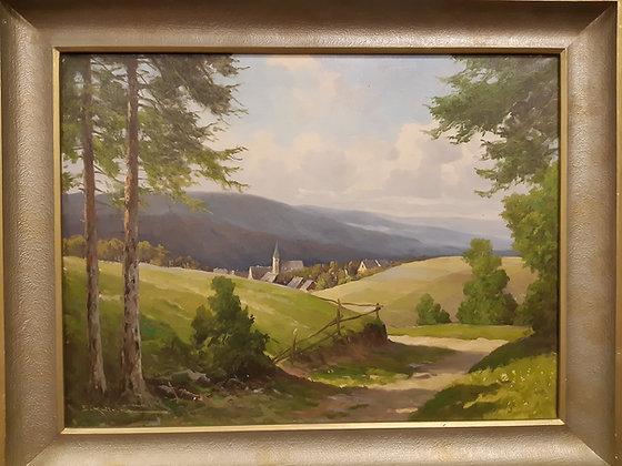 Krüger, Erich (1897-1978) - Gemälde Stadtansicht Thüringen
