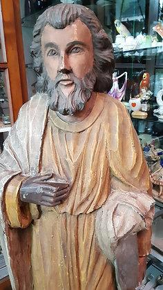 Holzfigur Gelehrter / Prediger - sehr groß
