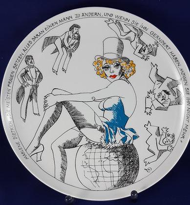 Rosenthal Satire Teller Marlene Dietrich