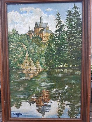Burg Kriebstein - Gemälde, R.Vollat 95