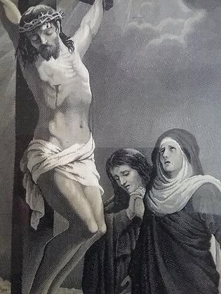 Kreuzigung Jesus Christus - Seidenbild