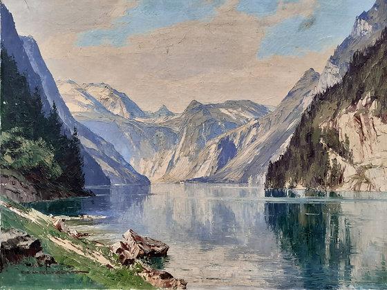 Ernst Carl Walter Retzlaff - Gemälde Königssee