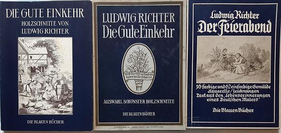 Ludwig Richter / 3x Die Blauen Bücher