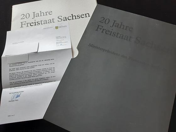 20 Jahre Freistaat Sachsen - Kunstmappe 117/200