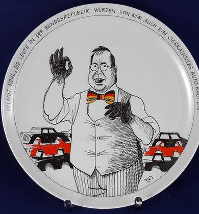 Rosenthal Satire Teller Helmut Kohl