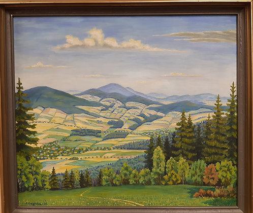 F. Erzgräber`35 - Gemälde Erzgebirge Landschaft