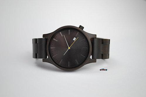 Orange Otter sandalwood watch front