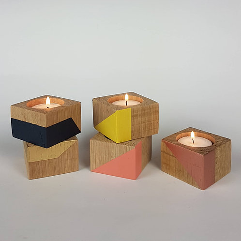 Group of tiny oak candle cubes from Orange Otter