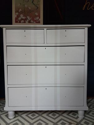 Ticking stripe drawers