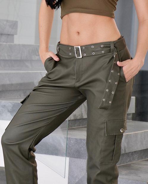 Pantalón DB Camuflado Cuero 4 Bolsillos