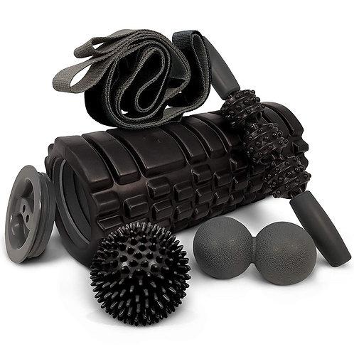 Massage Stick /Strap /Lacrosse Ball Fitness 5 In 1 Foam Roller Set