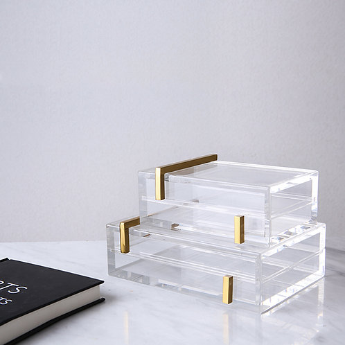 Clear Luxury decorative box
