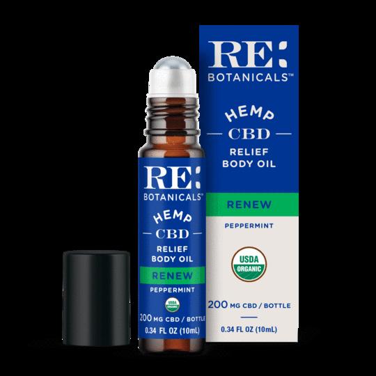 RE Botanicals CBD Relief Body Oil Peppermint