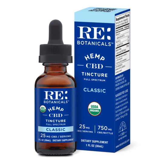 RE Botanicals Tinctures 30mL 25mg Classic