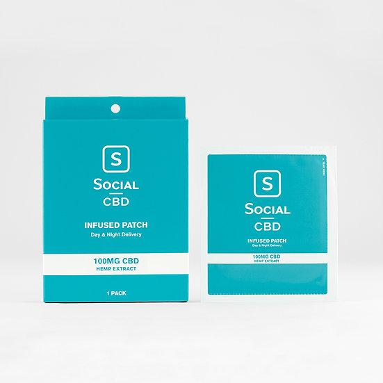 Social CBD Patches Transdermal Patch 100mg