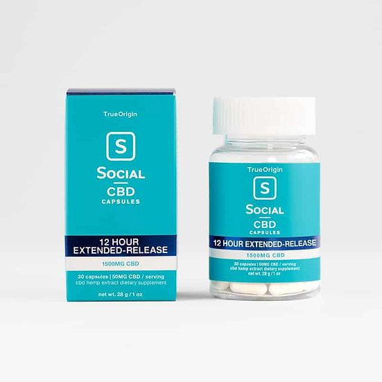 Social CBD Extended Release CBD Gel Capsules