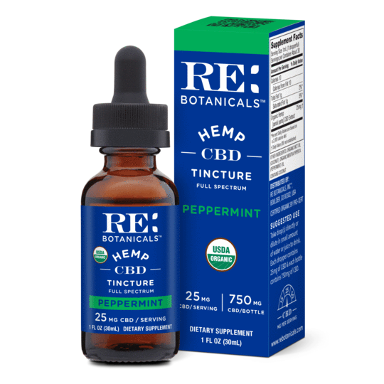 RE Botanicals Tinctures 30mL 25mg Peppermint