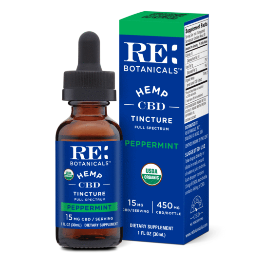 RE Botanicals Tinctures 30mL 15mg Peppermint