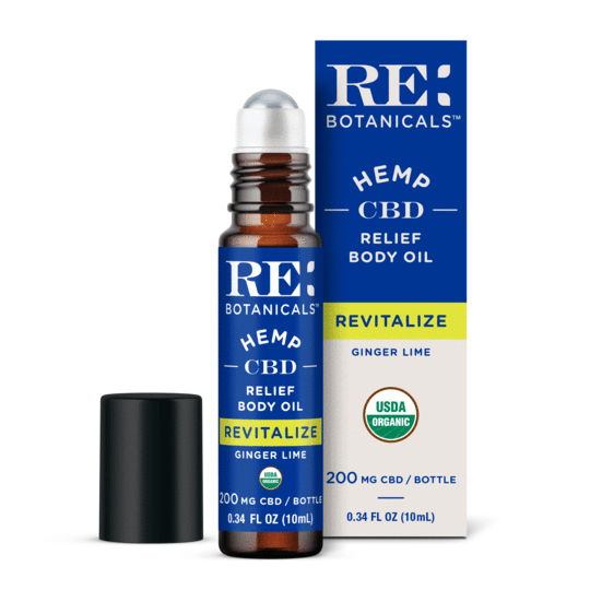 RE Botanicals CBD Relief Body Oil Ginger Lime