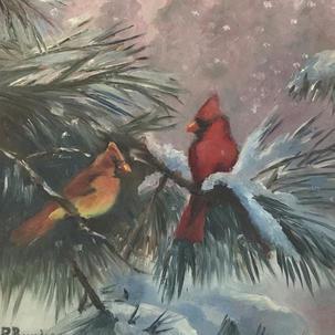 Cardinals in Pine