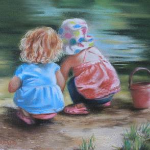 Little Girl in Polka Dot Hat