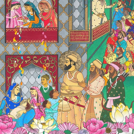 Mata Nanaki Gives Birth to Guru Tegh Bahadur 