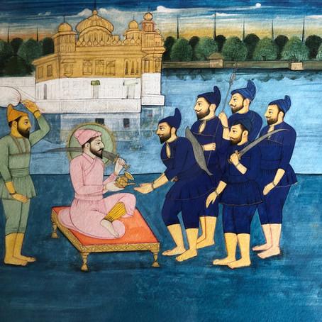 Guru Hargobind Arriving in Amritsar