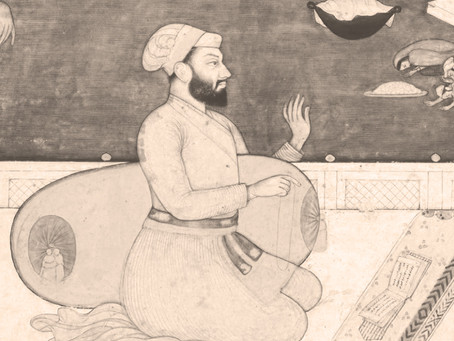 Guru Arjan Receives Blessing from Sarasvati Devi
