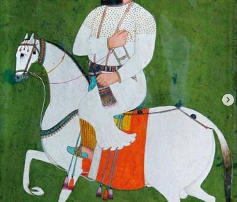 Contemporary Painting of Guru Hargobind