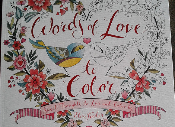 Words of Love -Coloring Book