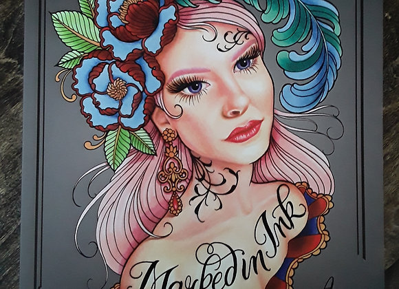 Marked In Ink - Coloring Book