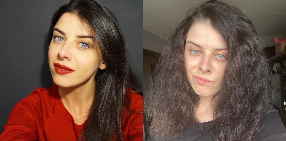 Выпрямленные кудрявы волосы феном без утюжка