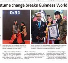 Fastest Costume change Malaysia Magician