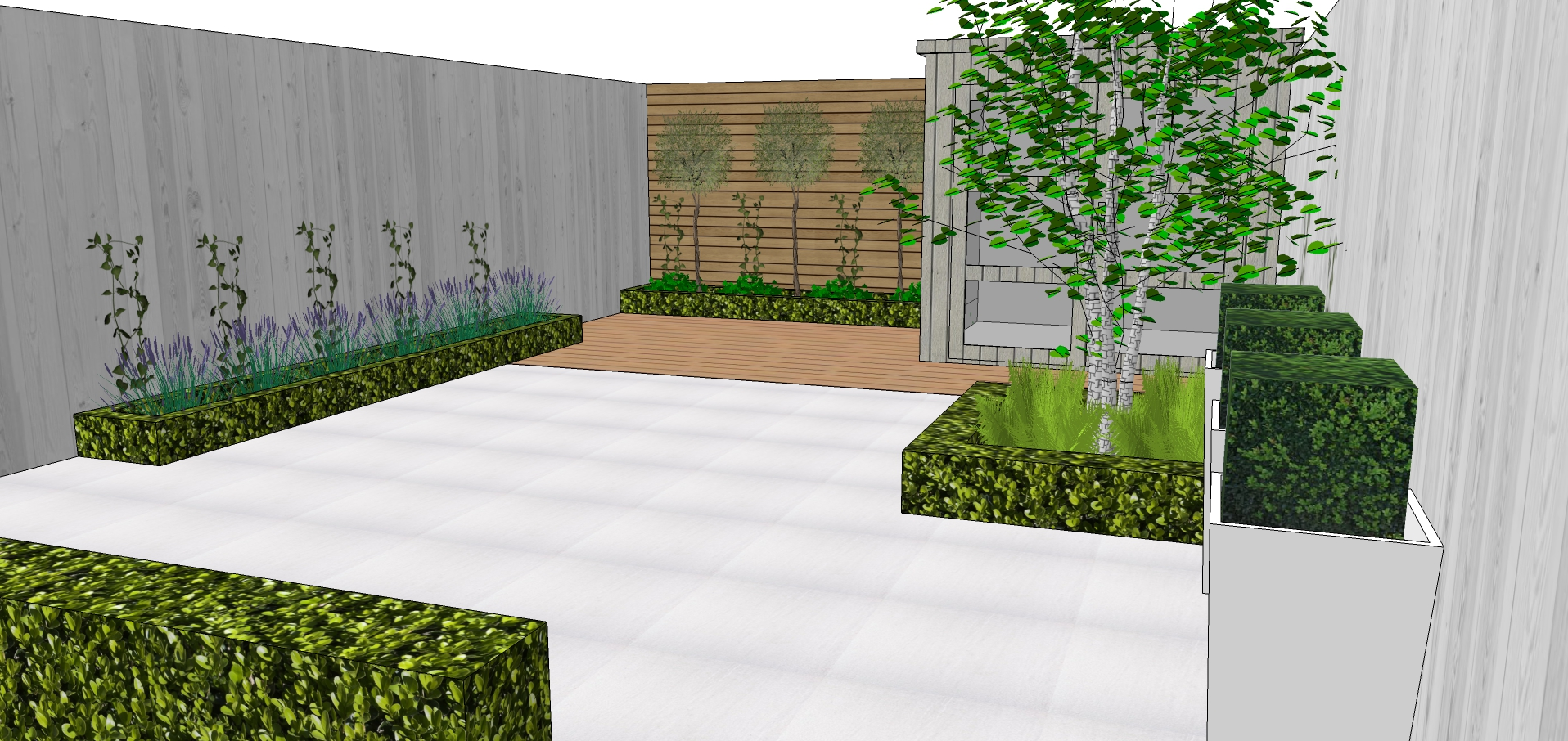 modern garden design idea london