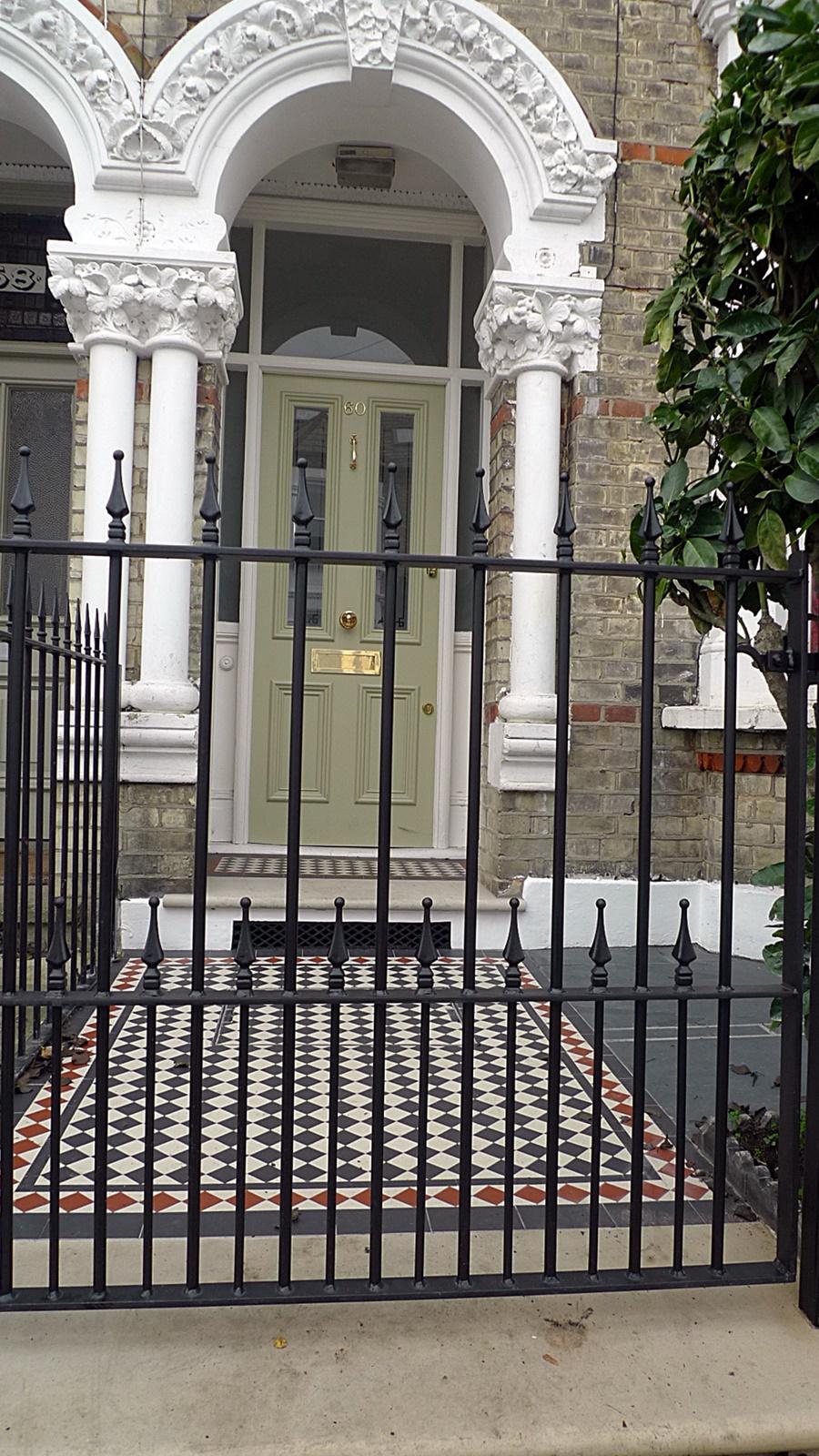 victorian mosaic tile path yorkstone battersea clapham balham dulwich putney london