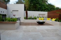 modern garden design outdoor room with kitchen seating  westminster