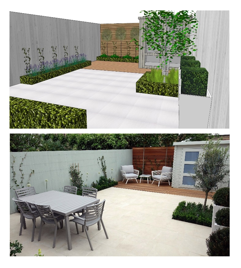 3 d concept garden design delivered for