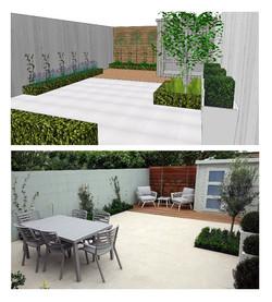 3 d concept garden design delivered for