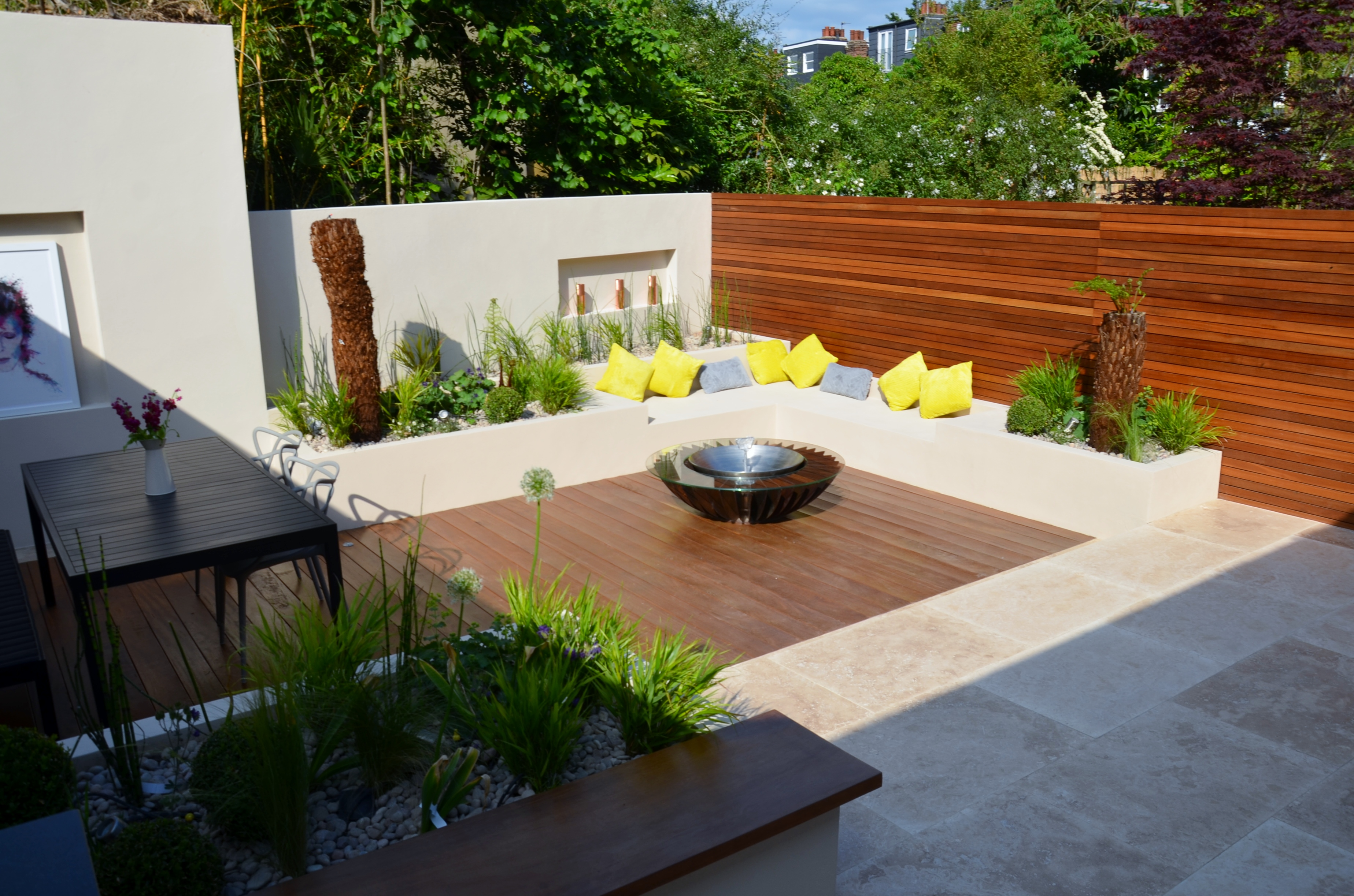 modern garden design outdoor room with kitchen seating  camden kensington oval lambeth