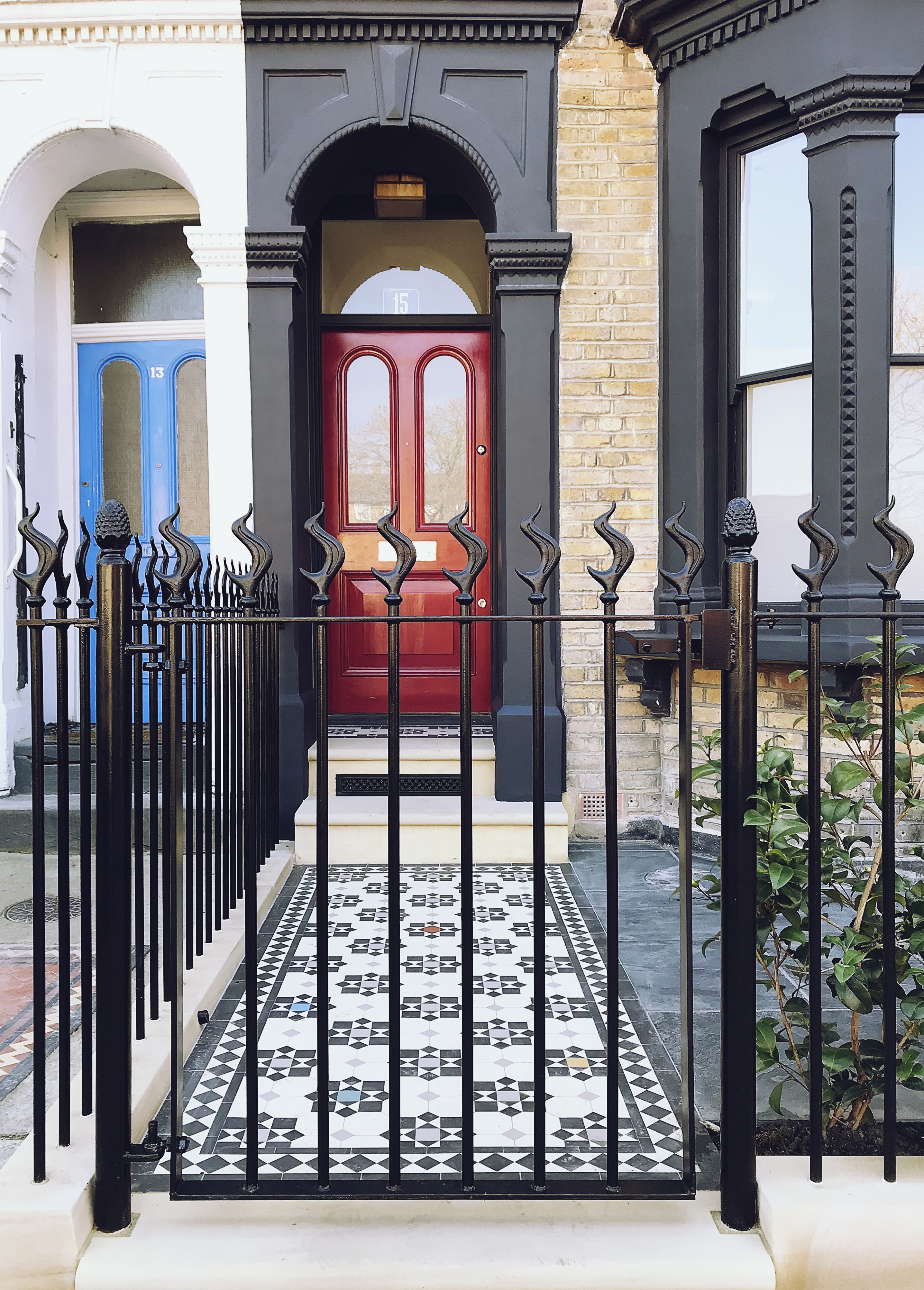 Victorian restoration with modern twist great front garden design