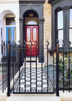 Victorian restoration with modern twist great front garden design