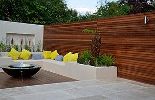 Modern Contemporary Garden Design London Anewgarden Hardwood Screen