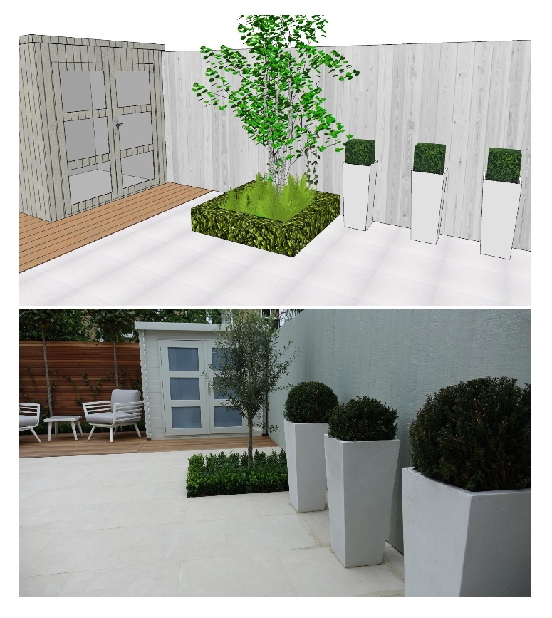 3-d modern garden design delivered in cl