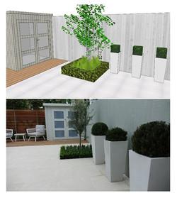 3-d modern garden design delivered in cl