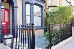 Victorian restoration with modern twist slate paving bull nose Yorkstone