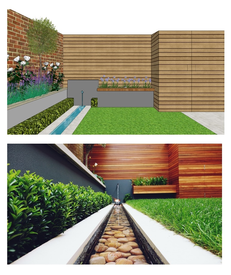 concept garden design delivered for proj