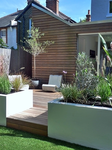 contemporary garden design london clapham