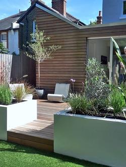 contemporary garden design london clapham