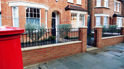 Victorian double fronted garden red bric